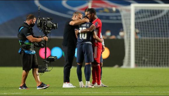 David Alaba consoló a Neymar, tras la final de la Champions League. (Foto: Agencias)