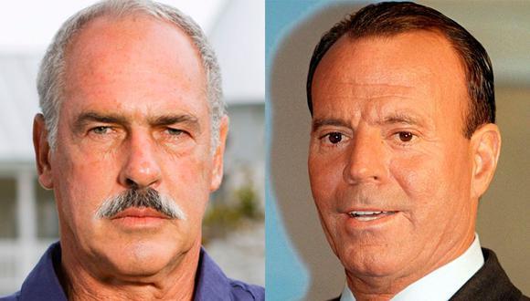 Tanto el actor como el cantante fueron considerados los galanes de su época. (Foto: Telemundo / AFP)