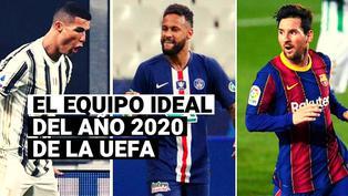 Con Cristiano Ronaldo y Lionel Messi a la cabeza, así luce el equipo ideal del 2020 de la UEFA