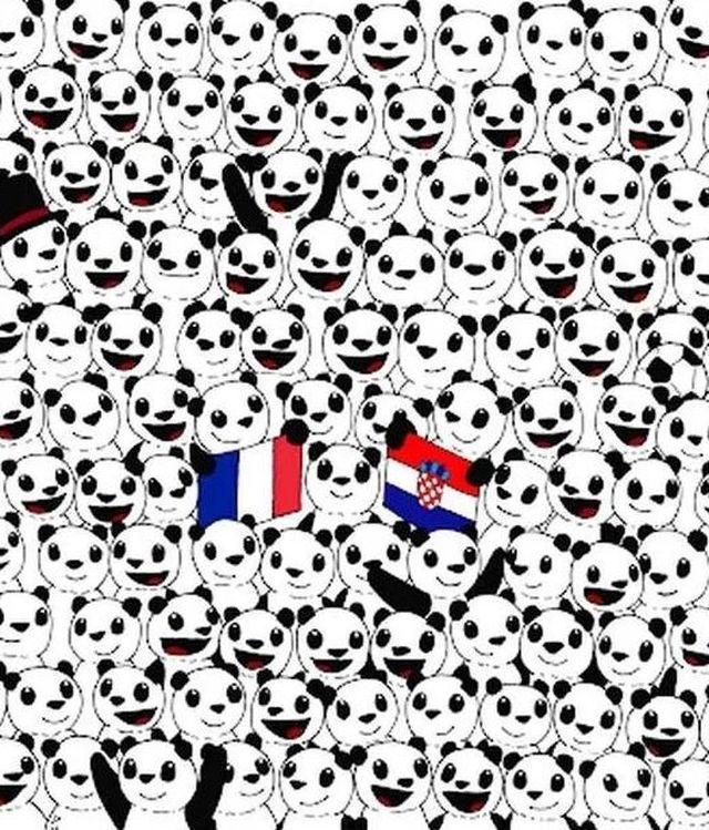 Halla la pelota de fútbol entre los divertidos pandas de la imagen tendencia en redes sociales. (Difusión)
