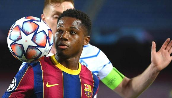 Ansu Fati da un paso más en su compromiso con Barcelona. (Foto: AFP)