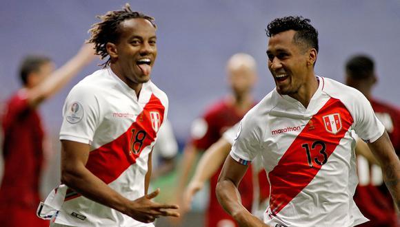 Carrillo anotó el único gol del partido y Perú logra la clasificación a cuartos de final en el segundo lugar del grupo B. (Foto: AFP)