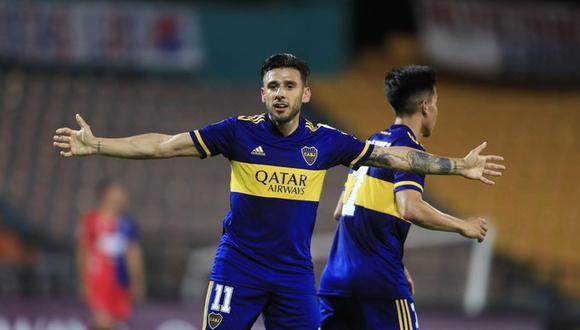 Eduardo Salvio volvió a marcar y ya suma cinco goles en la presente edición de la Libertadores. (Foto: Conmebol)