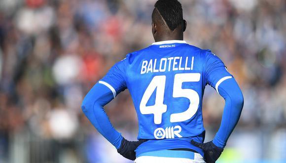 Mario Balotelli en el encuentro entre Brescia contra Lazio en el Estadio Mario Rigamonti por el primer partido del 2020 de la Serie A. (Foto: Agencias)