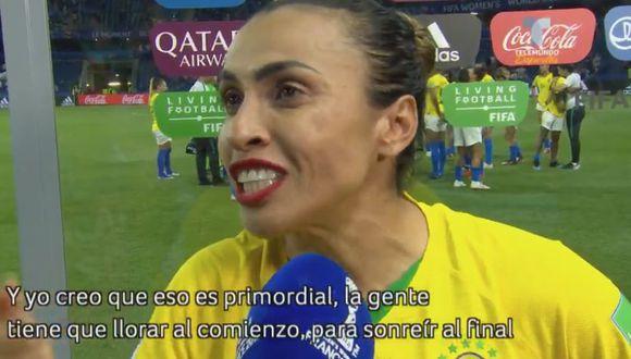 El emotivo mensaje de Marta a las próximas generaciones del fútbol femenino. (Twitter)