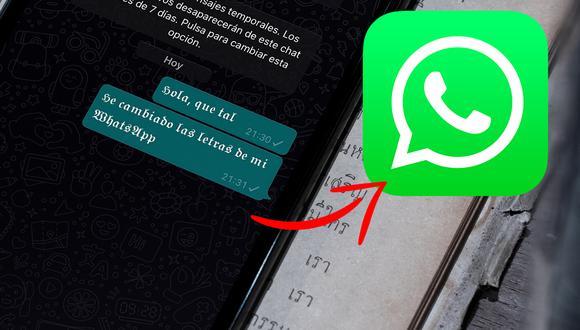 Conoce el método para cambiar las letras de WhatsApp en tu iPhone. (Foto: Mockup)