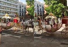 ¡Como si fuera un cuento de hadas! Una boda en Sevilla se vuelve viral en las redes sociales