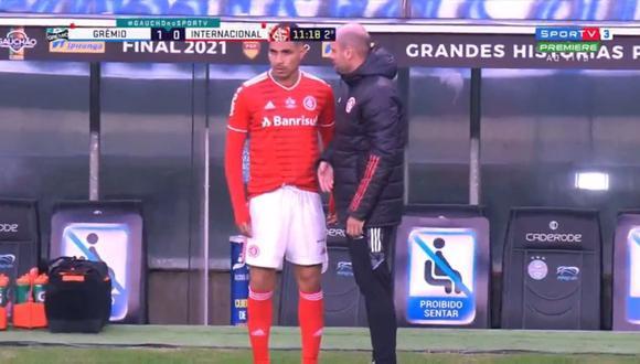 Paolo Guerrero volvió a jugar con Inter tras 40 días de ausencia. (Captura: SporTV)