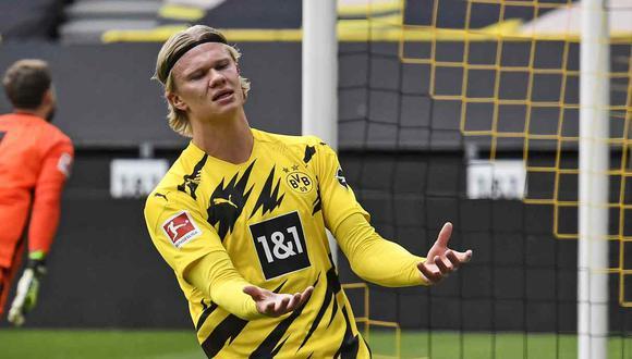 Haaland tiene contrato con el Dortmund hasta el verano de 2024. (Foto: AP)