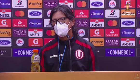 Ángel Comizzo habló del empate ante Defensa y Justicia por Copa Libertadores. (Captura: Conmebol)
