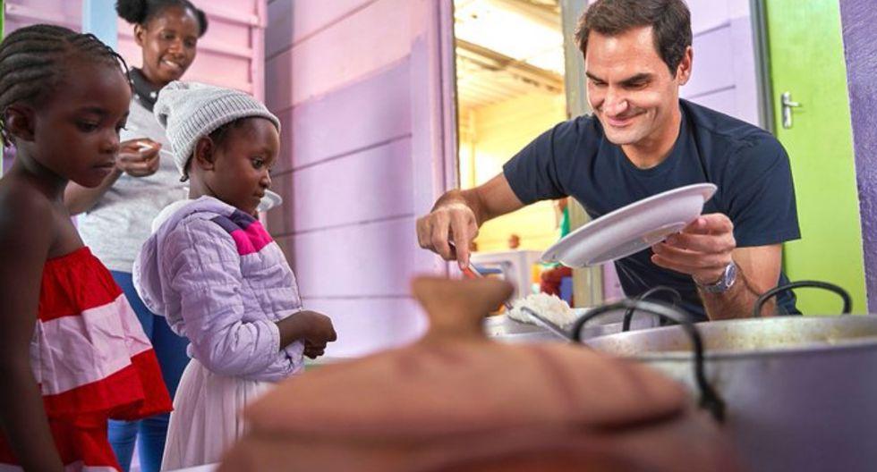 La Fundación Roger Federer apoya proyectos educativos ubicados en la región del África meridional y en Suiza. (Foto: Twitter de Roger Federer Fdn)