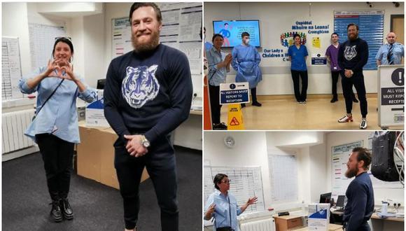 Conor McGregor entregó personalmente suministros médicos a hospital de niños en Irlanda que luchan contra el coronavirus. (Instagram)