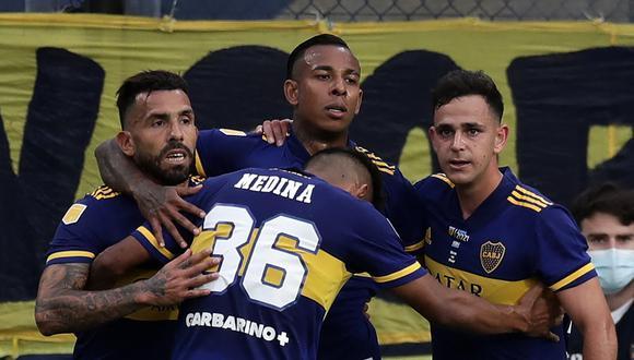 Sebastián Villa marcó el gol para Boca Juniors, pero no alcanzó para llevarse el triunfo. El Superclásico se jugó en la Bombonera. (Foto: AFP)