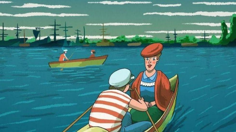 Ubica la cara oculta en el reto viral de las personas en el lago. (Tiempo de san Juan)