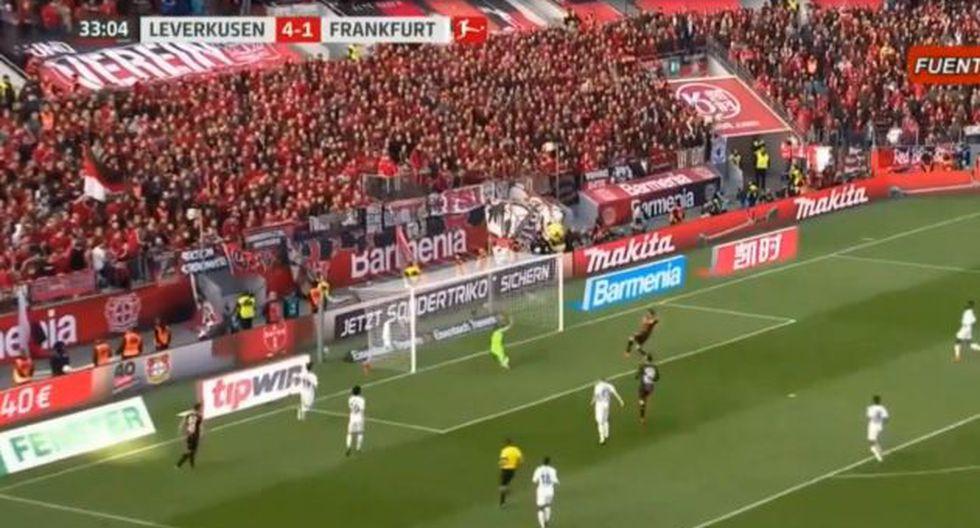 Así fueron los goles de Lucas Alario con el Bayer Leverkusen.