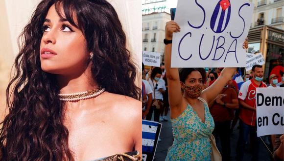 Camila Cabello recurrió a sus redes sociales para expresar su respaldo al pueblo cubano. (Foto: @camila_cabello/EFE)
