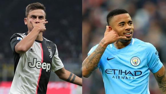 Paulo Dybala y Gabriel Jesus podrían cambiar de club para la siguiente temporada. (Fotos: Getty/ Agencias)