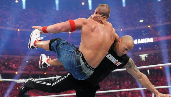 The Rock y John Cena tuvieron dos peleas en la historia WrestleMania. Una victoria para cada uno. (Foto: WWE)