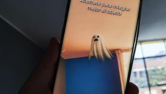 Así podrás activar el fantasma en 3D de Google y tomarte una foto con él. (Foto: Depor)