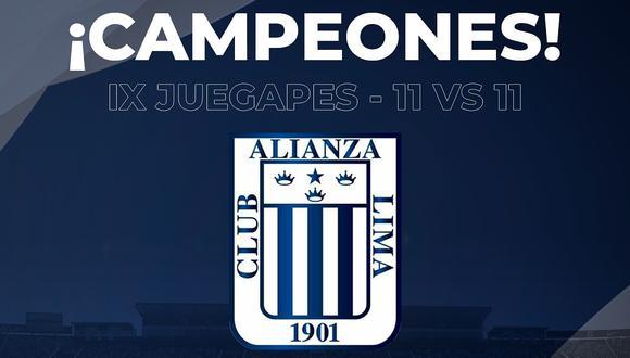 PES 2020: Alianza Lima campeona en el torneo 11 vs. 11 a la 'U' en el IX JUEGAPES (Difusión)