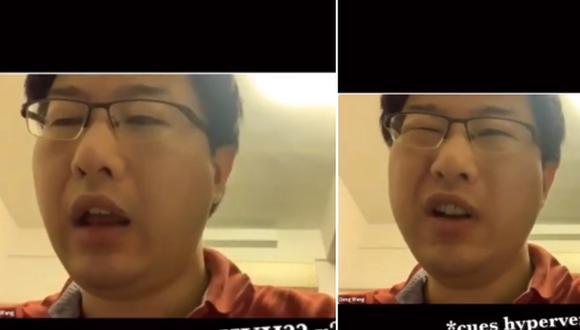 El profesor, al parecer, tuvo un leve ataque de pánico al descubrir que estuvo silenciado mientras daba una conferencia virtual. (Foto: @queen_yx_ / TikTok)