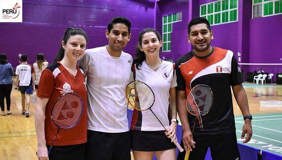 El equipo que competirá en Estados Unidos: Inés Castillo, Diego Mini, Danica Nishimura y José Guevara. A ellos se sumará Danica Nishimura. (Foto: Bádminton Perú)