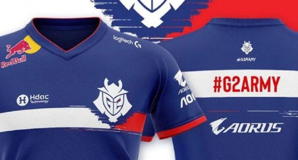 eSports: G2 Esports estrena camiseta temática de Francia. (Foto: captura)
