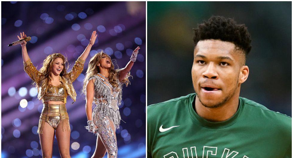 Giannis Antetokounmpo reveló haber estado en problemas por Shakira y JLo en el Super Bowl. (Getty)