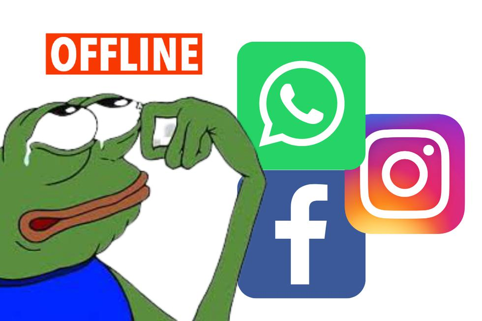 """Facebook y sus plataformas Instagram y WhatsApp sufrieron este lunes 4 de octubre una masiva interrupción que afectó potencialmente a decenas de millones de usuarios, hecho que provocó una gran cantidad de memes en Twitter, la única red social que se mantuvo activa durante este """"apagón""""."""