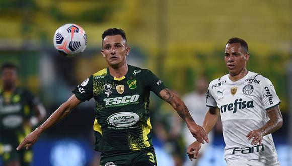 Defensa y Justicia y Palmeiras se vieron las caras por la ida de la Recopa Sudamericana 2021. (Getty)