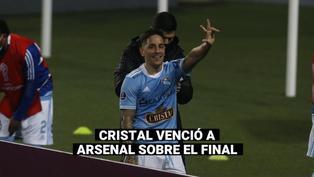 Copa Sudamericana: Las mejores postales del triunfo de Cristal ante Arsenal por la ida de los octavos de final