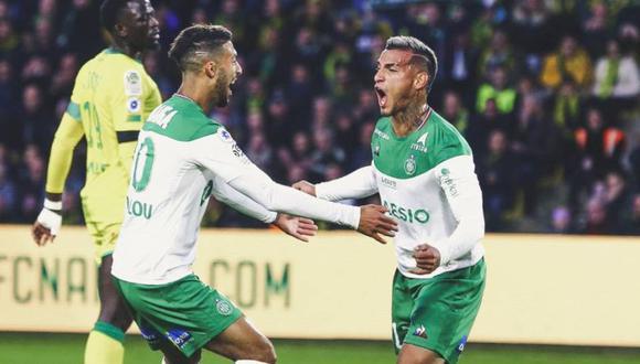 Miguel Trauco fue convocado para el partido de Saint-Étienne en la Ligue 1. (Foto: AFP)