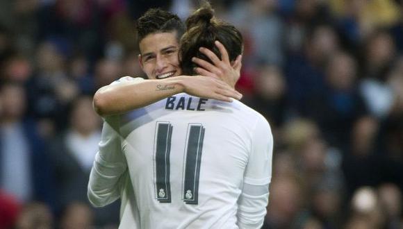 El Real Madrid busca las salidas de James Rodríguez y Gareth Bale para amortizar gastos. (Foto: AFP)