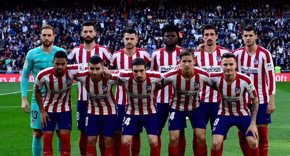 Atlético de Madrid con 23 Jugadores en el plantel cuesta 933.05 Millones de dólares (Foto: AFP)