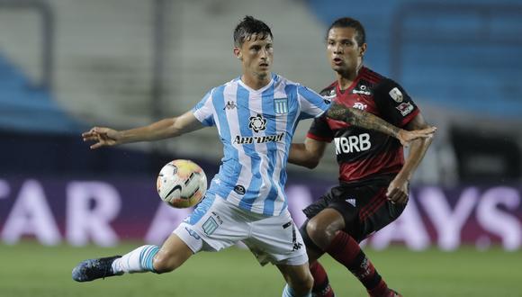 Racing empató 1-1 contra Flamengo por los octavos de final de la Copa Libertadores. (AFP)