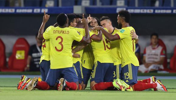 Colombia venció por 3-1 a Chile por las Eliminatorias rumbo a Qatar 2022 en Barranquilla. (Foto: AFP)