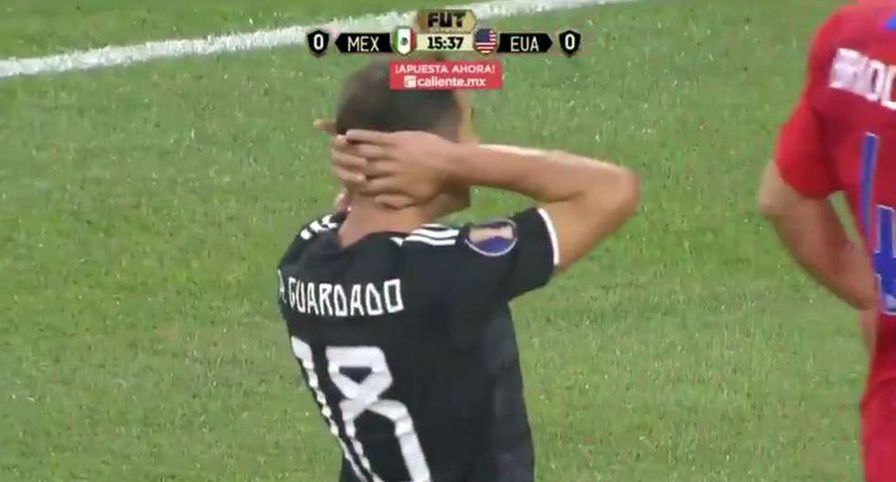 México vs. Estados Unidos EN VIVO: Guardado tuvo clara ocasión para abrir el marcado. (Azteca)