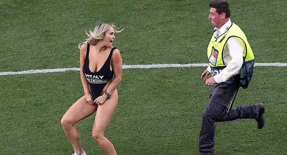 Kinsey Wolanski de Vitaly Uncensores se hizo famosa por invadir la final de la Champions League en traje de baño. (Instagram oficial de Kinsey Wolanski)