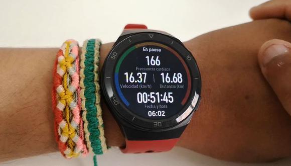Huawei Watch GT2e ofrece todos estos datos cuando sales en bicicleta (André Suárez)