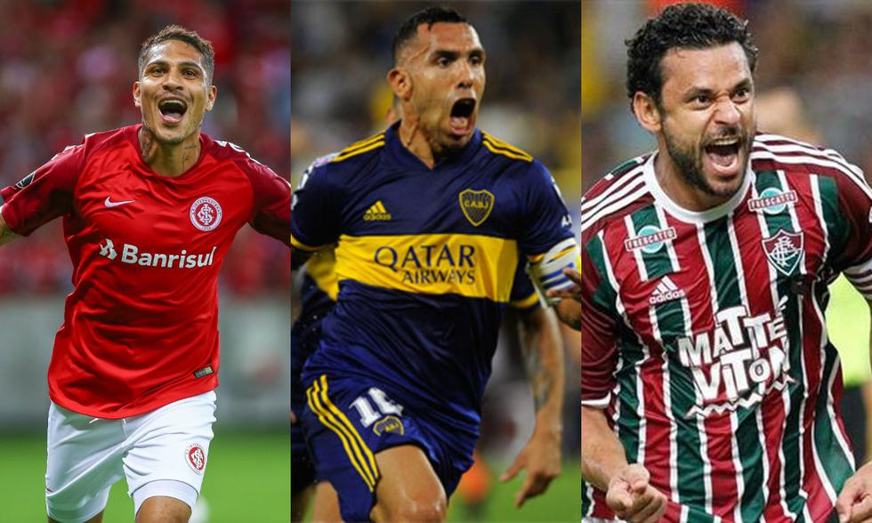 Artilleros históricos de la Copa Libertadores con presencia en la edición del 2021. (Fotos: Agencias)