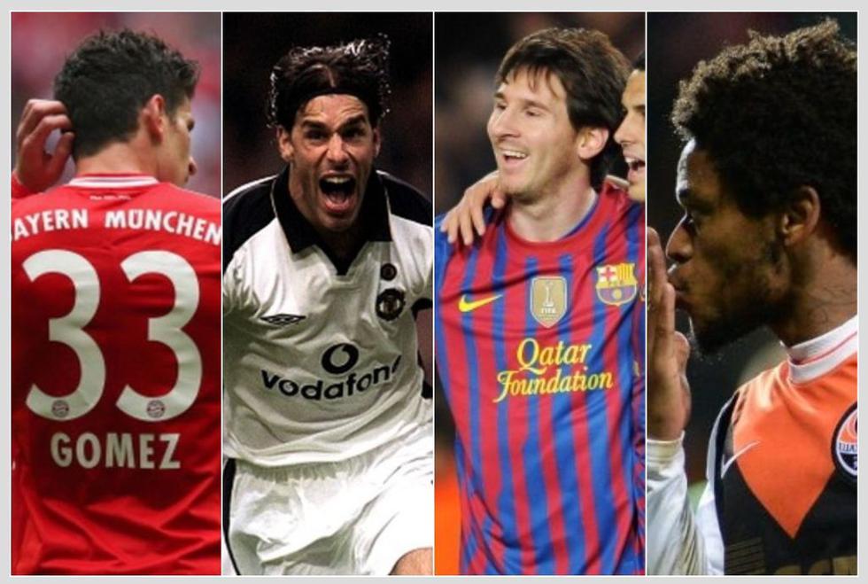 Los jugadores con más goles en un solo partido de Champions League. (Getty)
