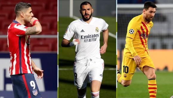 Real Madrid, Barcelona y Atlético de Madrid pelean por el título de LaLiga Santander. (As)