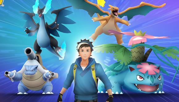 Pokémon GO: así se ven las Mega Evoluciones de Charizard, Venusaur y Blastoise. (Foto: Niantic)