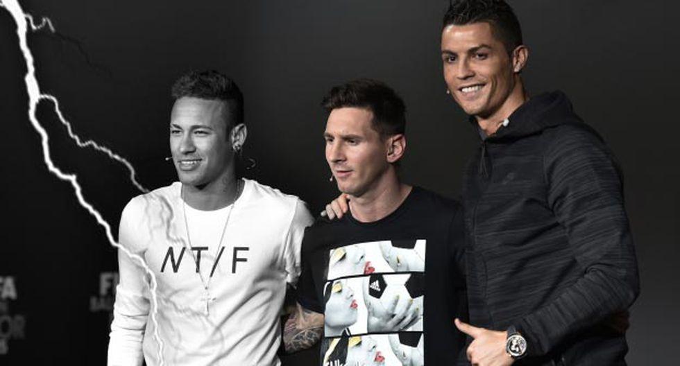 Neymar quedó tercero en la gala del Balón de Oro.