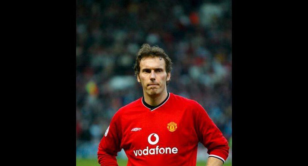 Laurent Blanc estuvo cerca de la final de la 2001/02, pero Leverkusen le ganó al United (Getty Images).