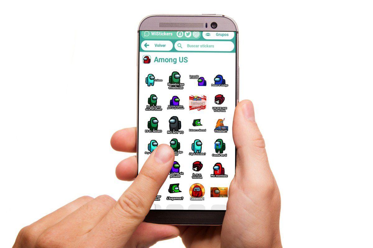 FOTO 1 DE 3. La fiebre de Among Us sigue creciendo y ahora llega a WhatsApp en forma de stickers. Foto: Captura (Desliza a la izquierda para ver más fotos)