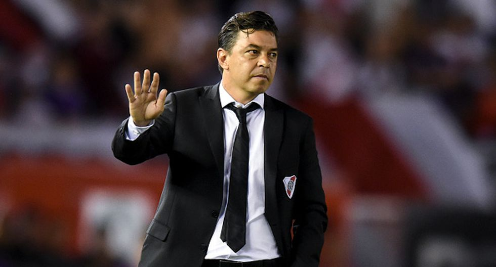 Marcelo Gallardo en River Plate. (Getty)