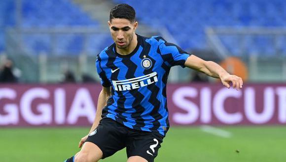 Inter de Milán desea vender a Achraf Hakimi por 80 millones de euros. (Foto: AFP)