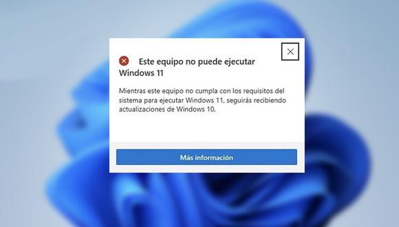 """Si te aparece """"Este equipo no puede ejecutar Windows 11"""" entonces estos son los pasos que debes hacer. (Foto: Genbeta)"""
