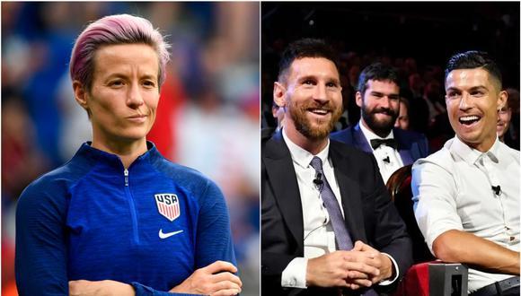Lionel Messi y Cristiano Ronaldo fueron criticados por Megan Rapinoe.